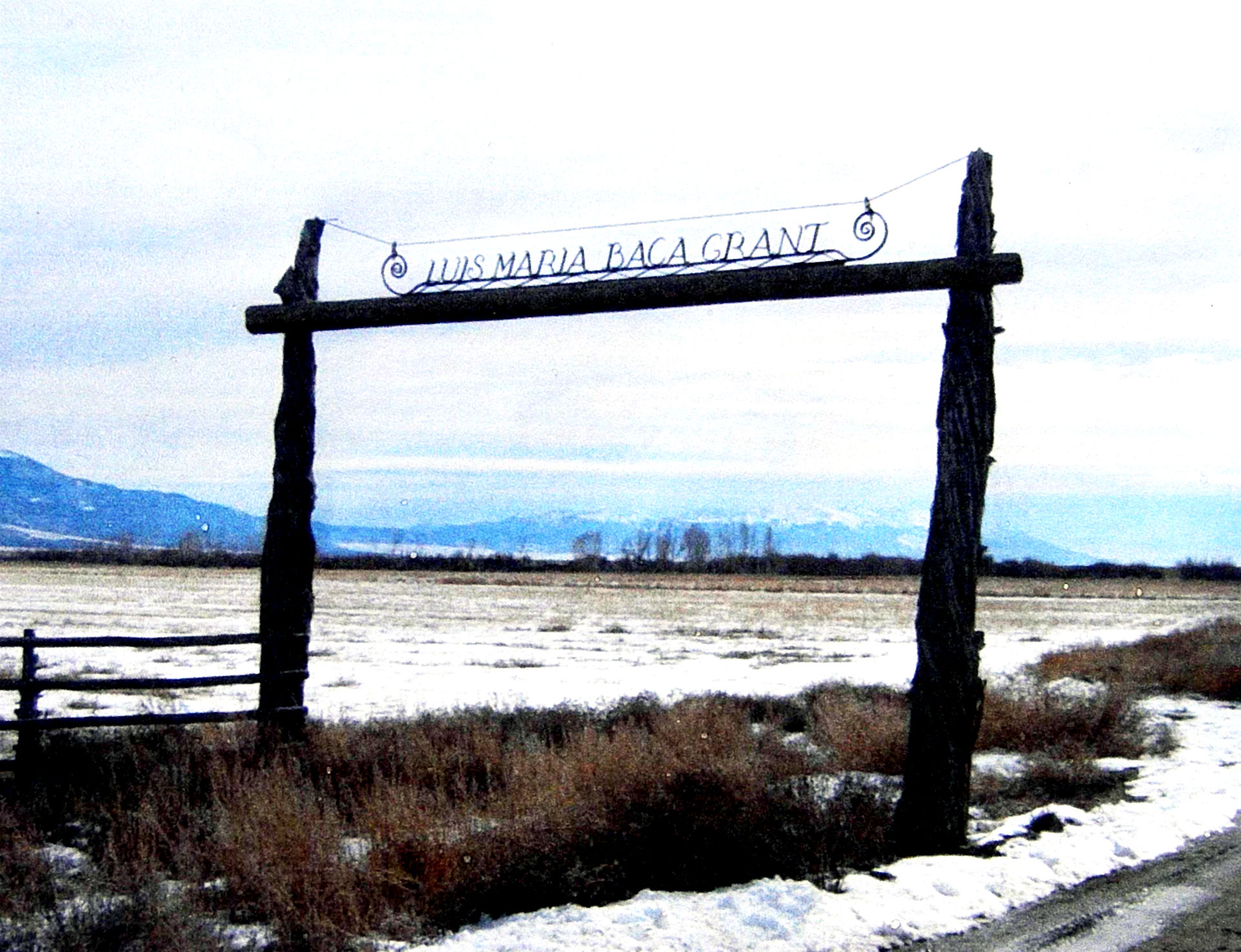 Figure 1. Gateway to the new Baca National Wildlife Refuge